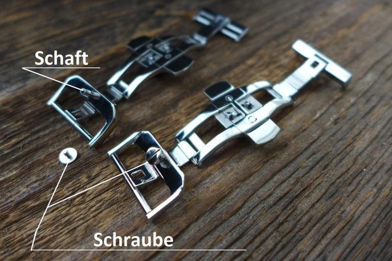 Greenpilot watchstraps Faltschliessen Bild 1 rechts vom Text beschriftet