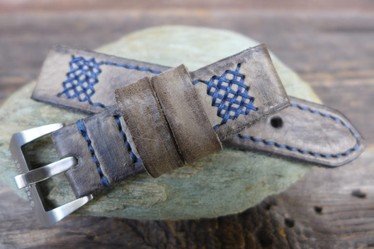 Greenpilot watchstraps Modelle burned and aged vintage line black forest b and a aschgrau