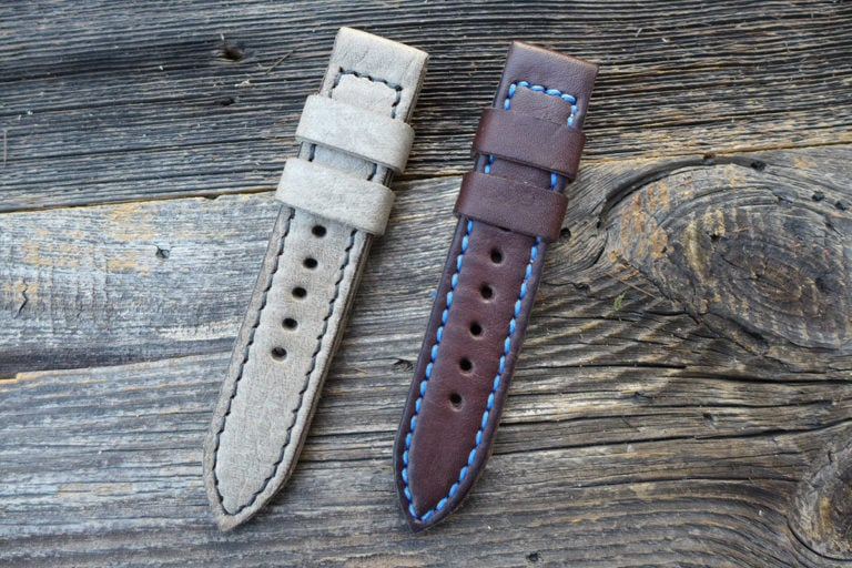 Greenpilot watchstraps Modelle solid line closed stitch