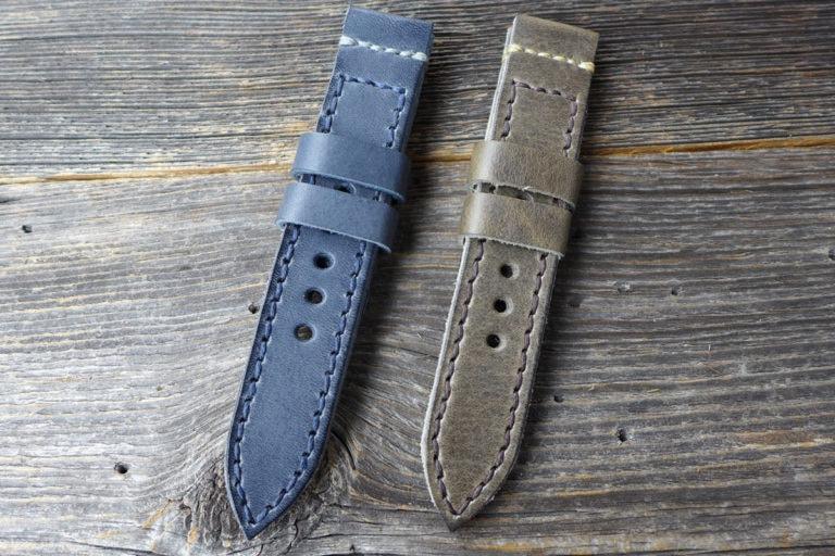 Greenpilot watchstraps Modelle solid line lug stitch