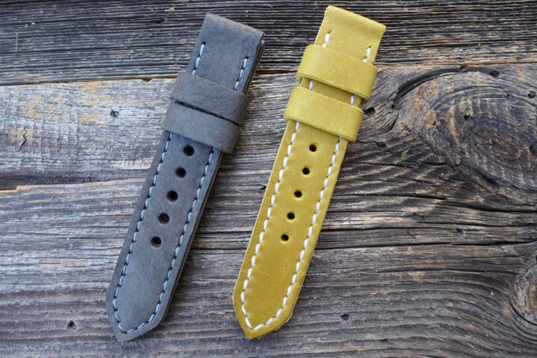 Greenpilot watchstraps Modelle solid line open stitch