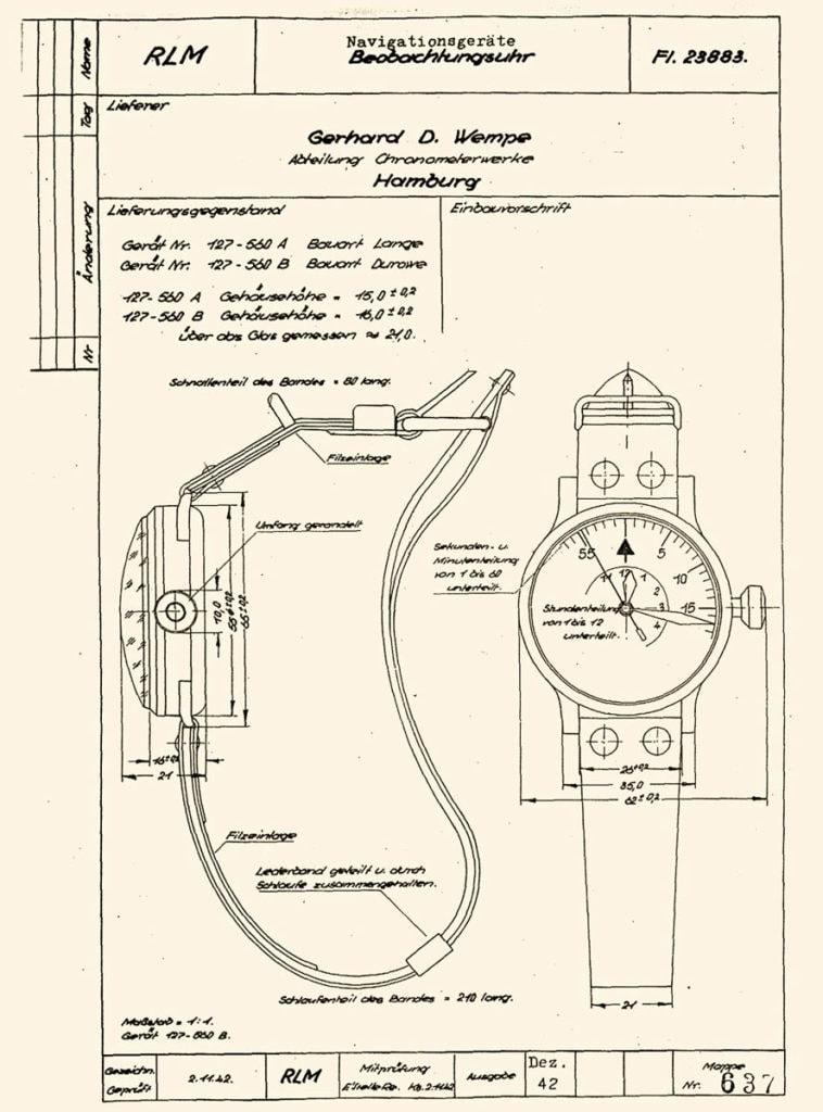 Greenpilot watchstraps Sondermodell Heritage Airman 1 Historische Vorlage