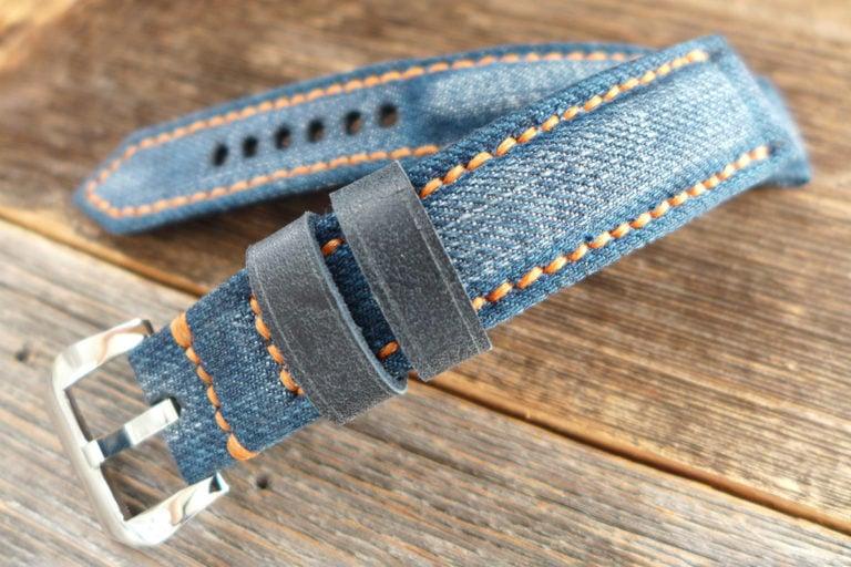 Greenpilot watchstraps Sondermodell Jeans Strap 1 Muster Bild 2
