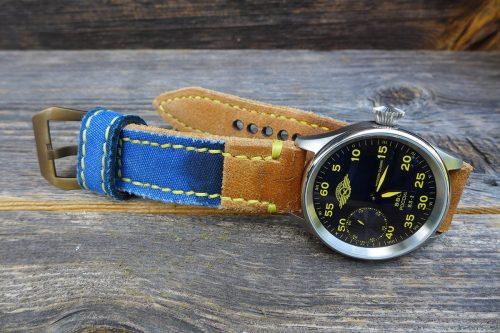 Greenpilot-watchstraps-Kollektion-CanvasLine-Flaq-Style-Bild-4-an-die-passende-Uhr-montiert-Moscow-Classic-Sturmovik-43mm