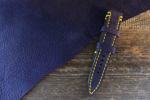 Greenpilot-watchstraps-Leder-Solid-Line-blau-black-blue-denim