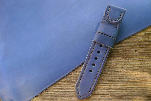 Greenpilot-watchstraps-Leder-Solid-Line-blau-saphir-blau