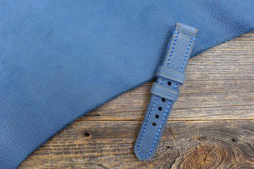 Greenpilot-watchstraps-Leder-Solid-Line-blau-washed-denim