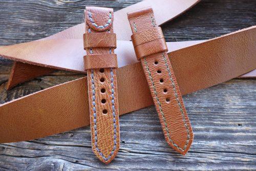 Greenpilot-watchstraps-Leder-Solid-Line-braun-cognac-bicolor