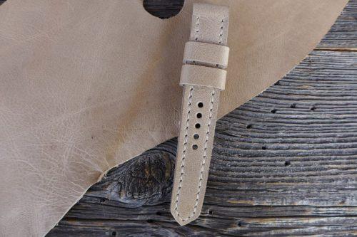 Greenpilot-watchstraps-Leder-Solid-Line-braun-sandstein-glossy-oder-matt