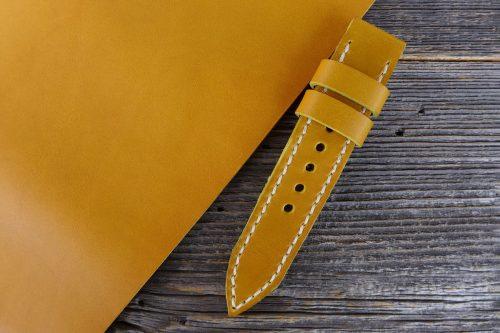 Greenpilot-watchstraps-Leder-Solid-Line-gelb-golden-tan