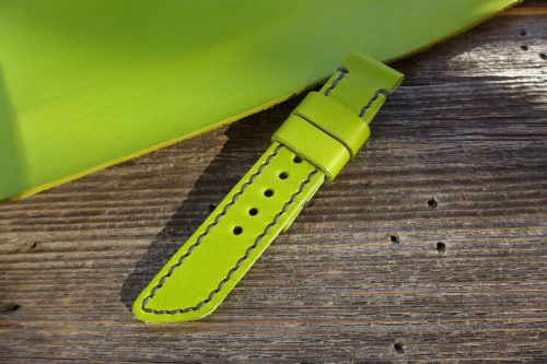 Greenpilot-watchstraps-Leder-Solid-Line-gruen-key-lime-gruen
