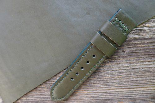 Greenpilot-watchstraps-Leder-Solid-Line-gruen-military-style-gruen