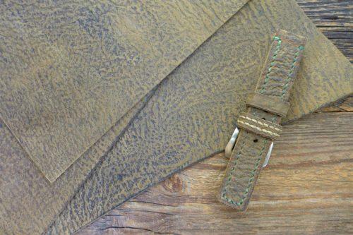 Greenpilot-watchstraps-Leder-Solid-Line-oliv-corky-olive