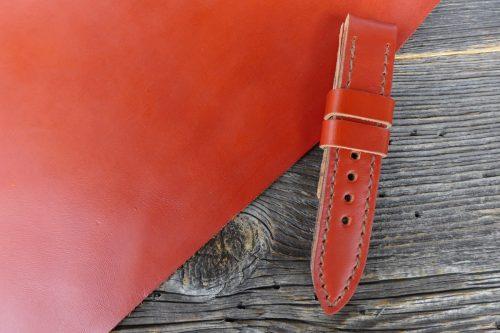Greenpilot-watchstraps-Leder-Solid-Line-rot-burnt-red