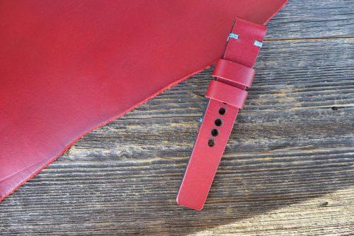 Greenpilot-watchstraps-Leder-Solid-Line-rot-dark-red