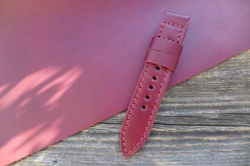 Greenpilot-watchstraps-Leder-Solid-Line-rot-purpur