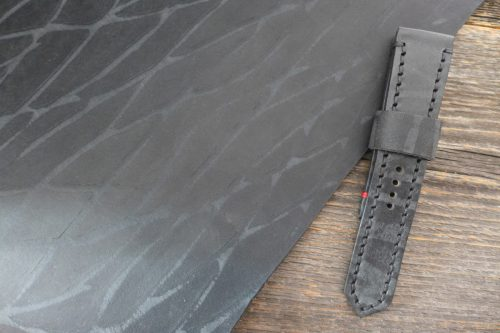 Greenpilot-watchstraps-Leder-Solid-Line-schwarz-black-stripes