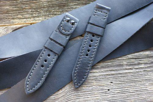 Greenpilot-watchstraps-Leder-Solid-Line-schwarz-matt-soft-schwarz